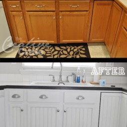 11. update your cabinets with trim pieces and paint. 27 easy remodeling projects that will completely transform your home.jpg