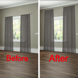 12. how to hang your curtains to give the illusion of larger windows. 27 easy remodeling projects that will completely transform your home.png