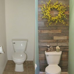 13. transform a wall in your home with recycled wood. 27 easy remodeling projects that will completely transform your home.jpg