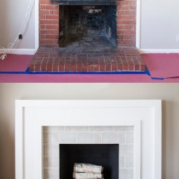 23. give your fireplace a facelift 27 easy remodeling projects that will completely transform your home.jpg