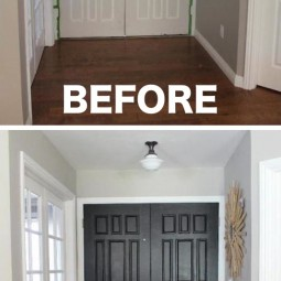 7. paint the inside of your entry door a color that pops 27 easy remodeling projects that will completely transform your home.jpg