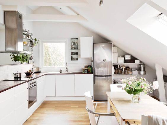 21 tolle Küchen im Dachgeschoss :) - nettetipps.de