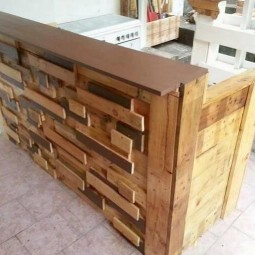 Artistic wooden pallet bar table and shelves.jpg