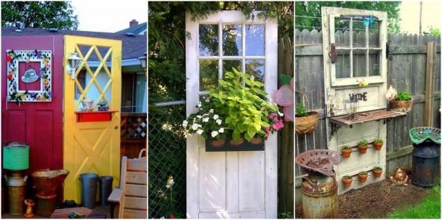Super VINTAGE Gartendeko aus alten Fenstern und Türen :) - nettetipps.de @ED_72