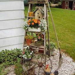 Blumenstaender selber bauen rustikaler charme gartendeko.jpg