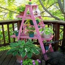 Blumenstaender selber bauen terrasse rosa dekoriert.jpg