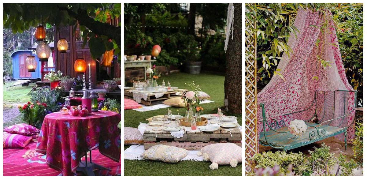 Romantische Garten Dekoration