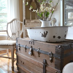 How to decorate with vintage decorvintage trunk.jpg