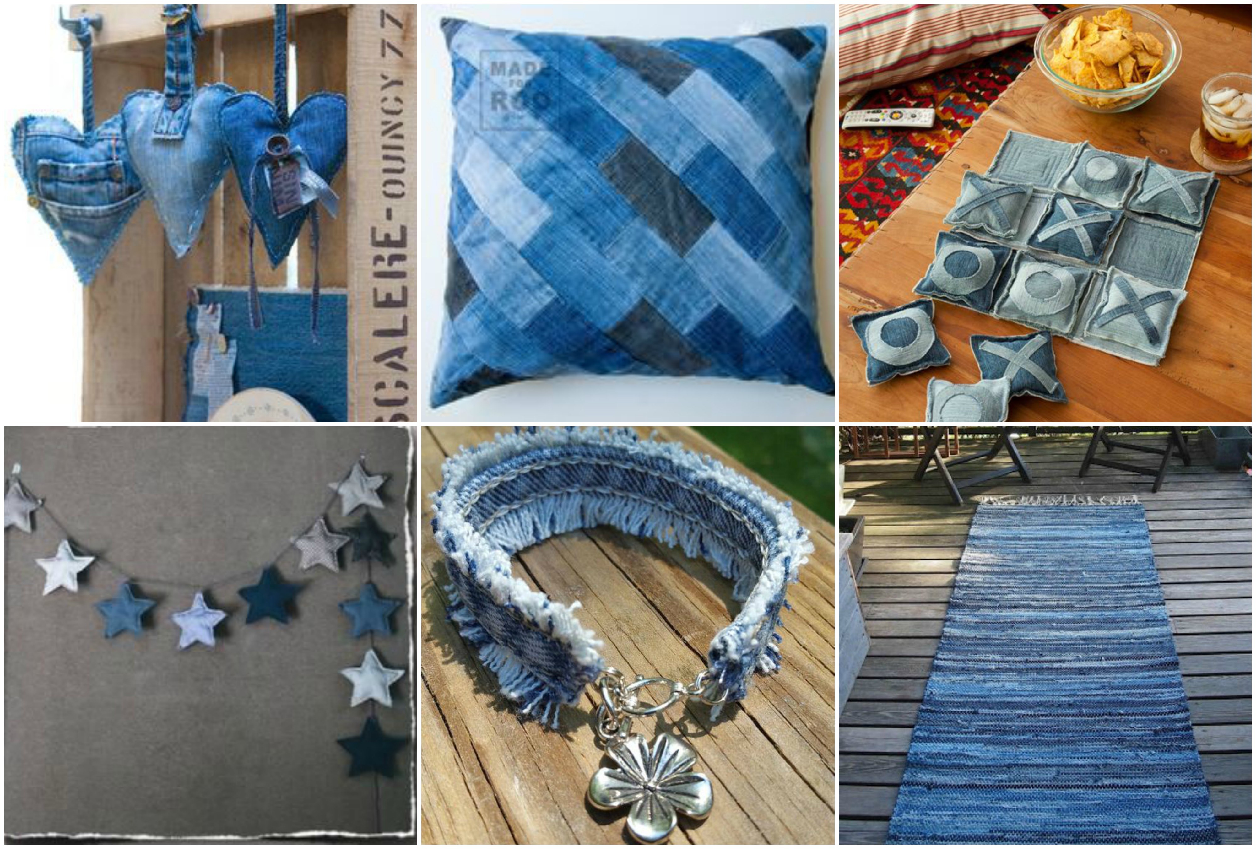 15 tolle upcycling ideen aus alten jeans. Black Bedroom Furniture Sets. Home Design Ideas