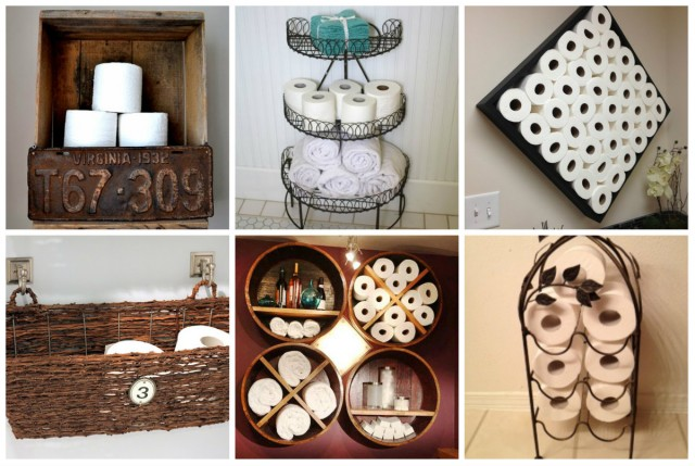 aufbewahrung ideen f rs toilettenpapier. Black Bedroom Furniture Sets. Home Design Ideas