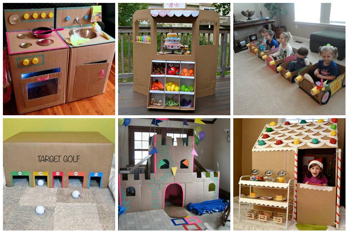 26 lustige diy spielpl tze f r kinder aus pappkarton. Black Bedroom Furniture Sets. Home Design Ideas