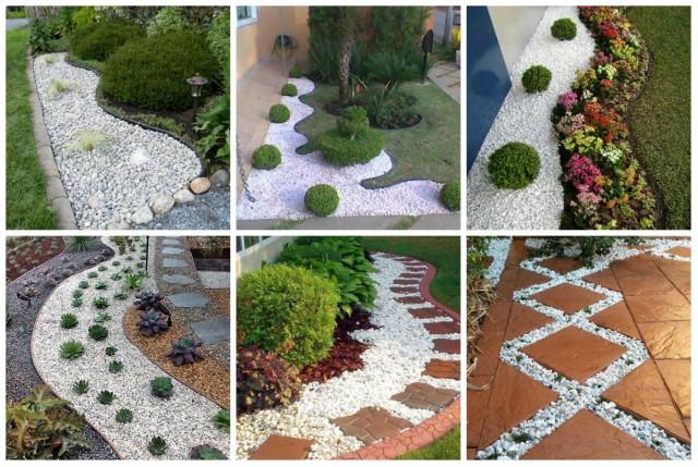 Diy Garten Dekoration Mit Weißen Steinen Nettetippsde