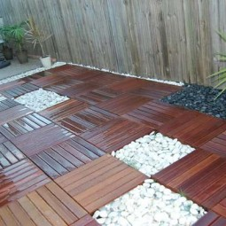 Decorate outdoor space with wooden tiles 8.jpg