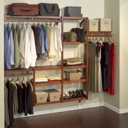 Ordnung kleiderschrank nische regalsystem kleiderstange hemde hosen schuhe aufbewahrungsboxen.jpg