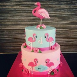 62ba8b42f07fa9d7403664bc69778d46 birthday cakes flamingo birthday cake ideas.jpg