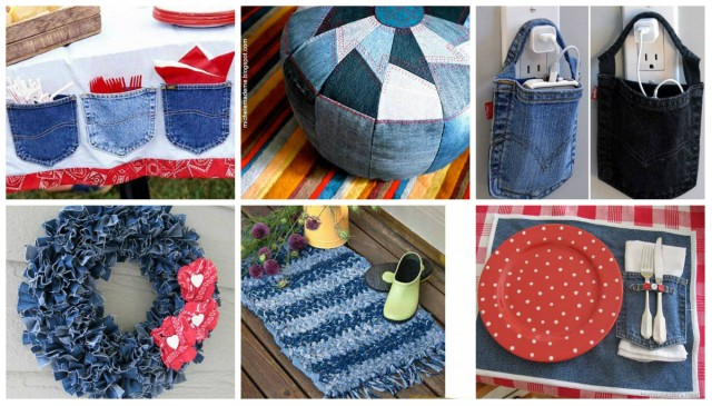 30 tolle ideen zum jeans upcycling. Black Bedroom Furniture Sets. Home Design Ideas