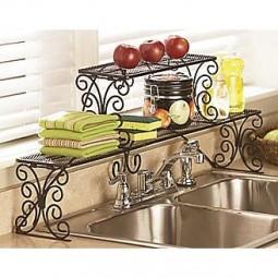 Over The Kitchen Sink Adjustable Soap Rack