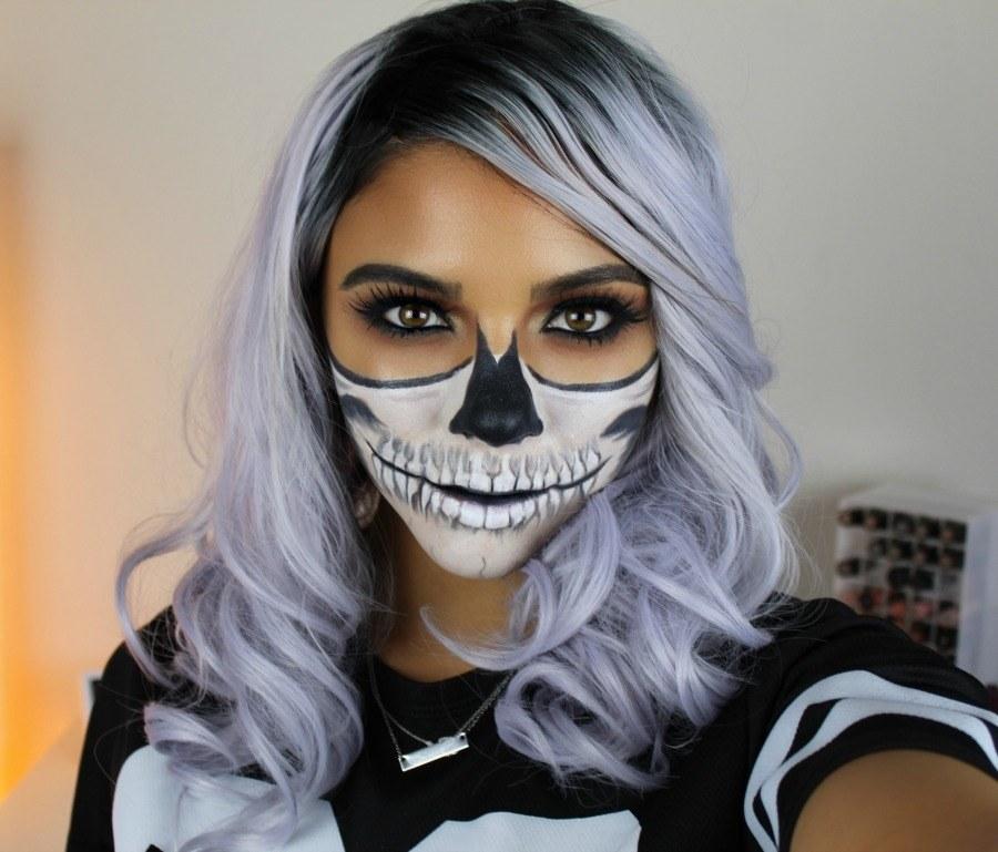 Halloween Schmink Ideen.20 Super Gruselige Halloween Make Up Ideen Nettetipps De