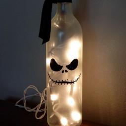 halloween deko aus glasflaschen basteln. Black Bedroom Furniture Sets. Home Design Ideas