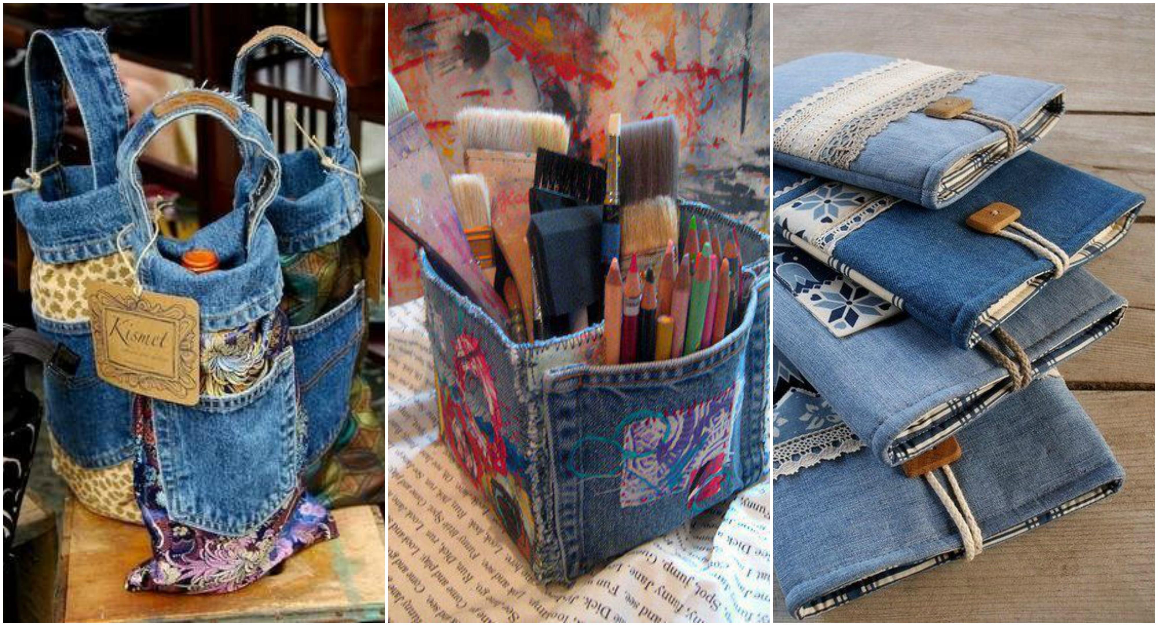 alte jeans verwerten 20 geniale ideen. Black Bedroom Furniture Sets. Home Design Ideas