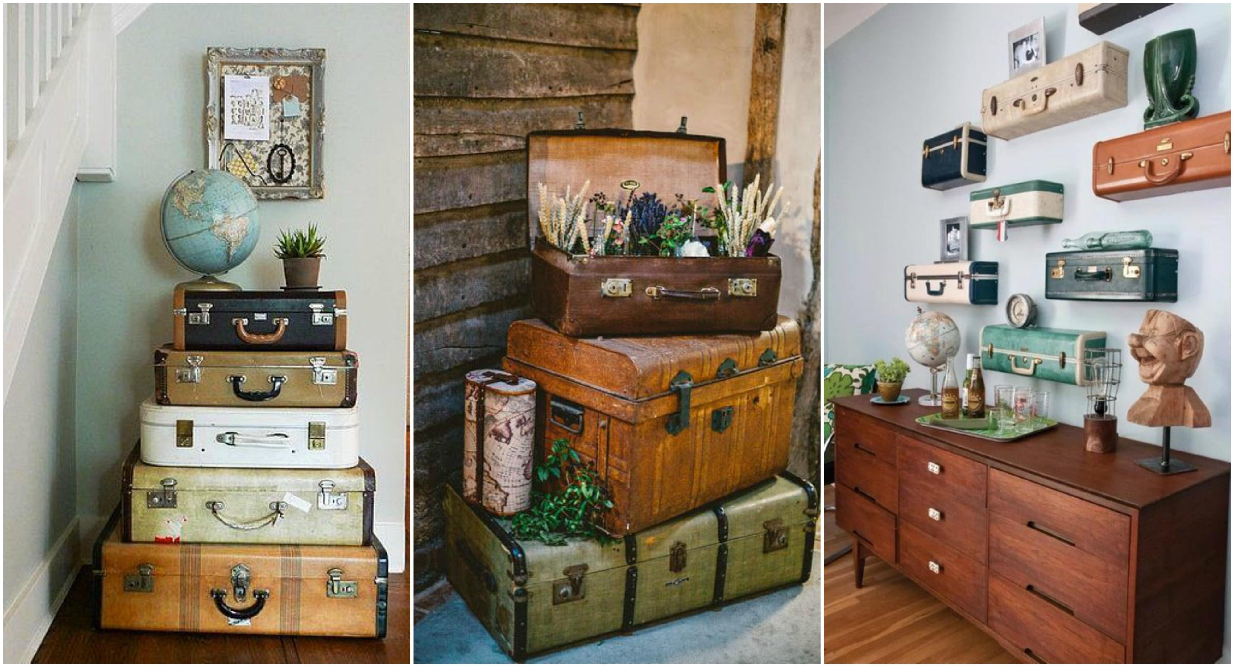 Alte koffer tolle wohndeko ideen - Alte koffer dekorieren ...