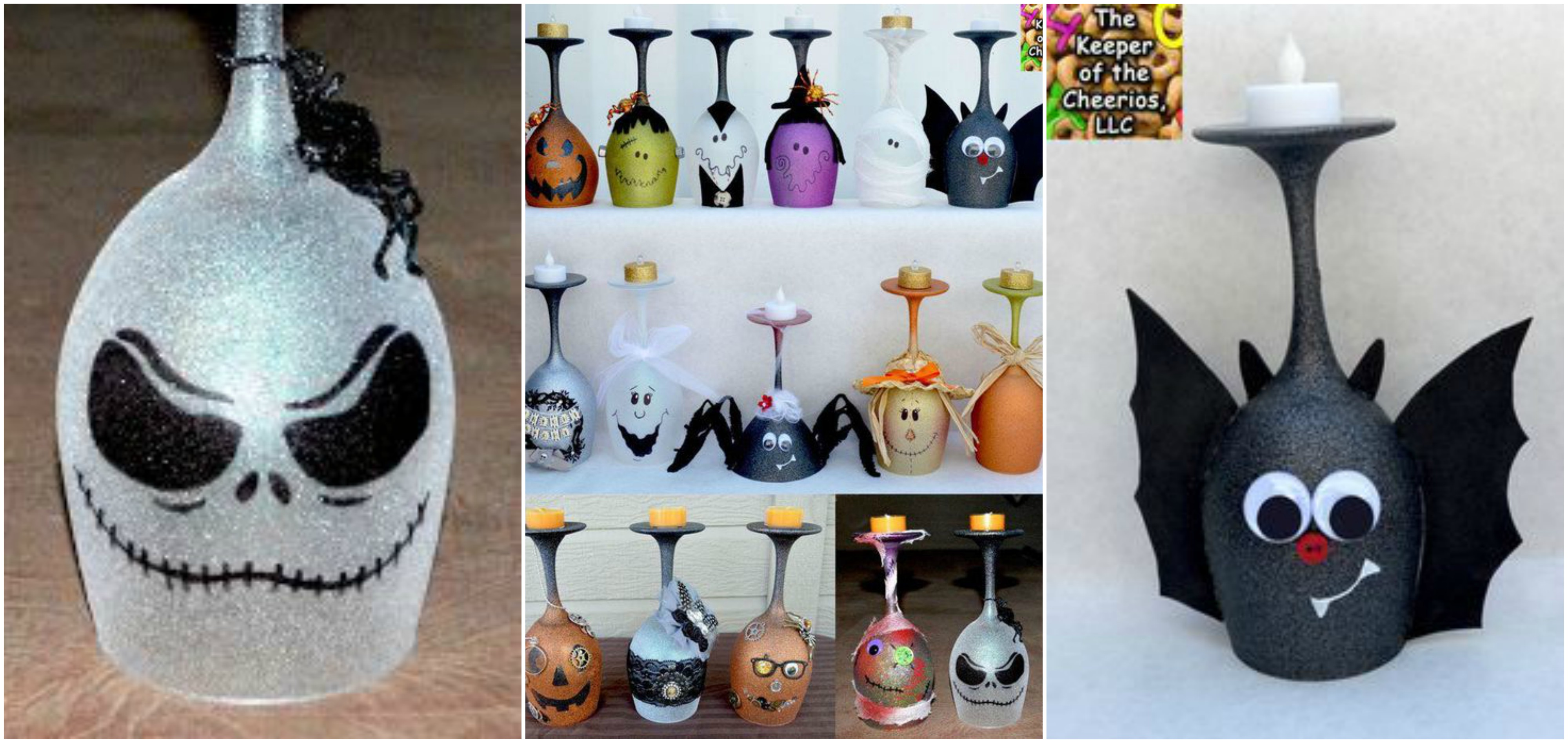diy halloween weinglas als kerzenst nder. Black Bedroom Furniture Sets. Home Design Ideas