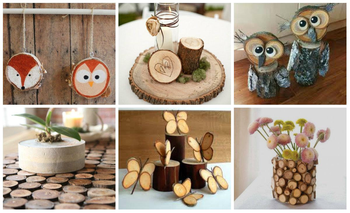 Kreative dekoration mit holzscheiben - Holzscheiben dekorieren ...