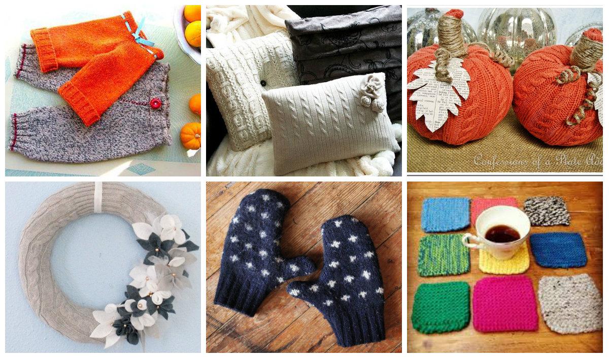 20 Ideen, Wie Man Aus Alten Pullovern Neue Dinge Zaubern
