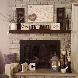 Cozy fall fireplace decor idea.jpg