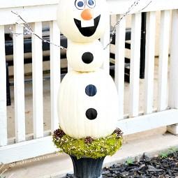 Disney frozen olaf pumpkin.jpg