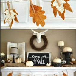 Fall banner with book page leaves as a mantel decor.jpg