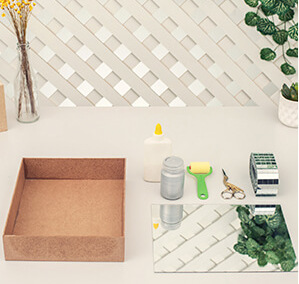 fotoanleitung elegantes tablett f rs badezimmer basteln. Black Bedroom Furniture Sets. Home Design Ideas