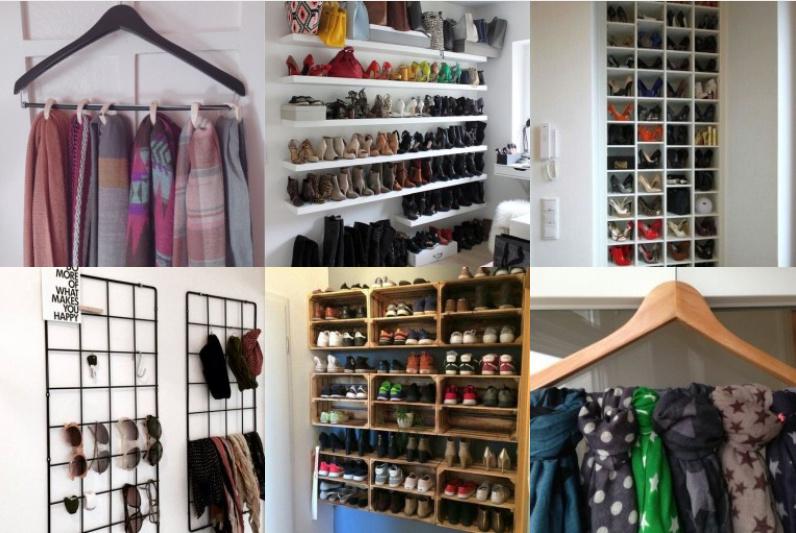 20 ideen wie man schuhe und accessoires organisieren kann. Black Bedroom Furniture Sets. Home Design Ideas