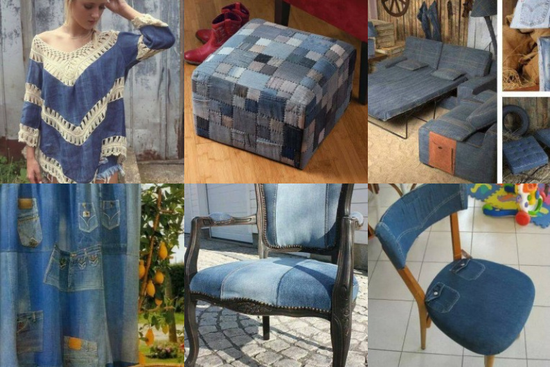recycling projekte mit alten jeans. Black Bedroom Furniture Sets. Home Design Ideas