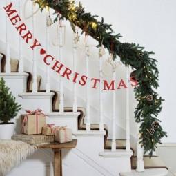 Weihnachtliche Diy Treppen Dekoration Nettetipps De