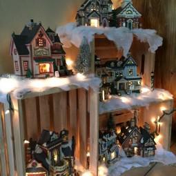 Eine leuchtende winterlandschaft basteln 20 m rchenhafte ideen - Leuchtende weihnachtsdeko ...