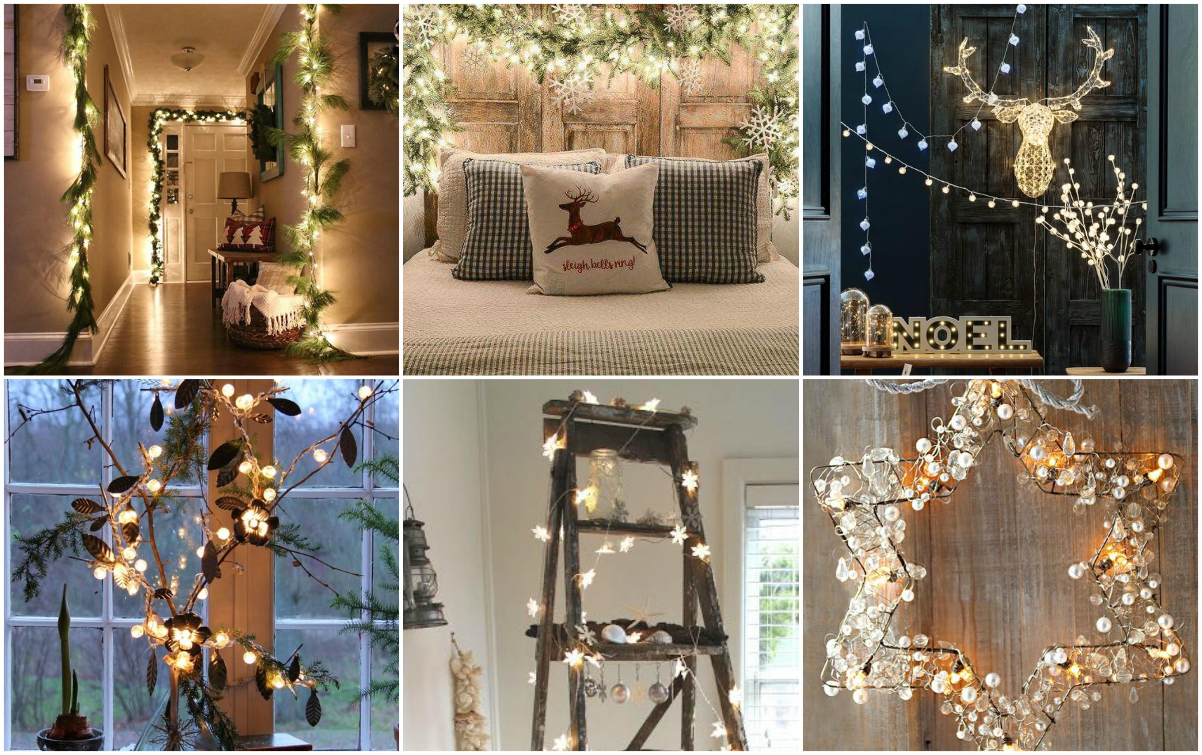 Bezaubernde weihnachtsbeleuchtung f r innen 30 ideen for Weihnachtslichterketten innen