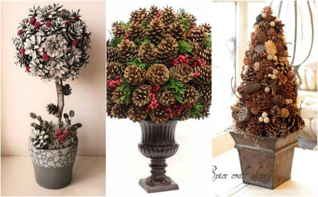 weihnachtsdeko basteln, weihnachtsdeko basteln – hübsche deko aus zapfen :) - nettetipps.de, Design ideen