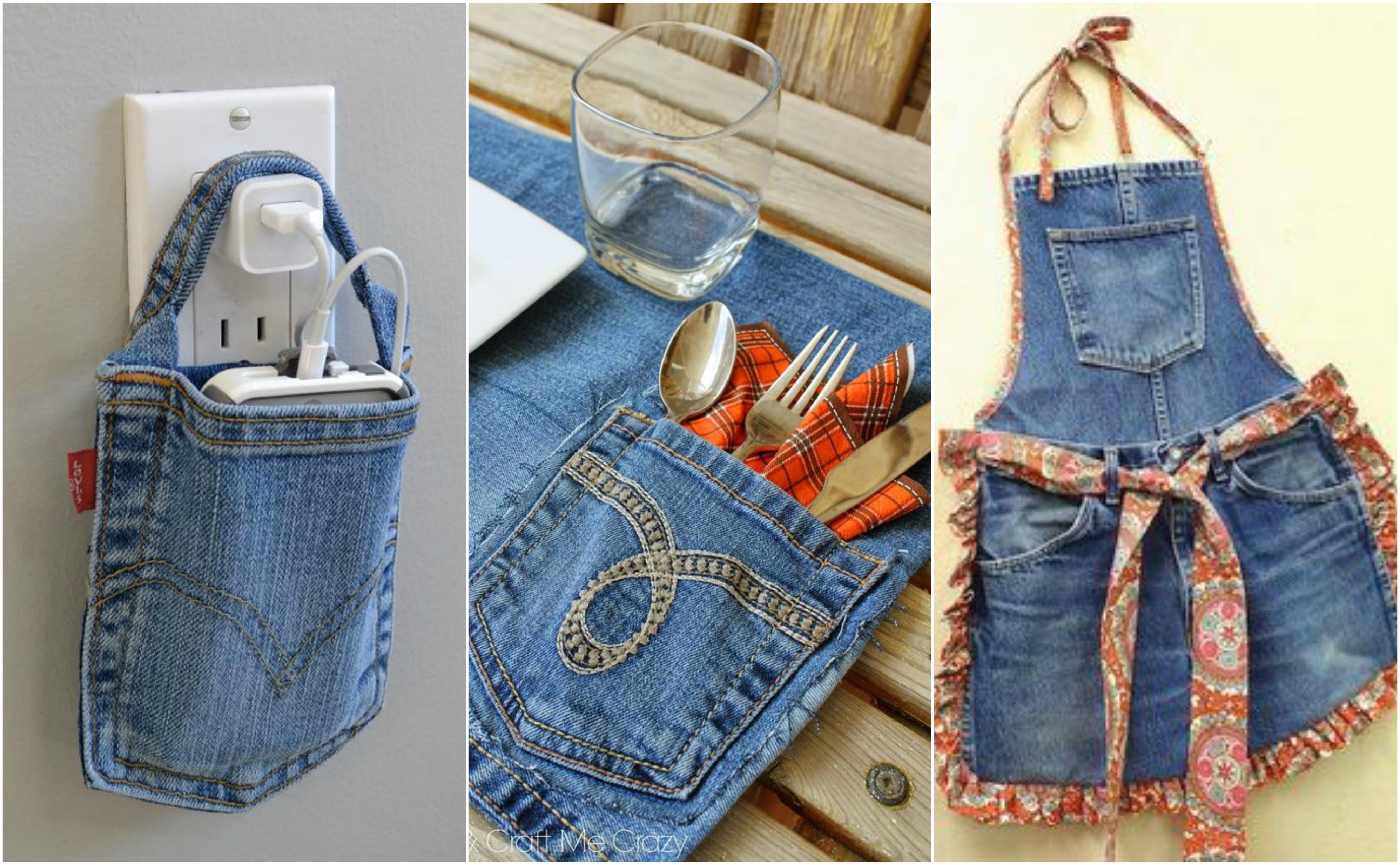 13 kreative ideen aus alten jeans. Black Bedroom Furniture Sets. Home Design Ideas