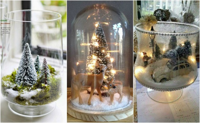 Weihnachtsdeko Im Glas Mit Lichterkette Ideen Fur Das Wohndesign