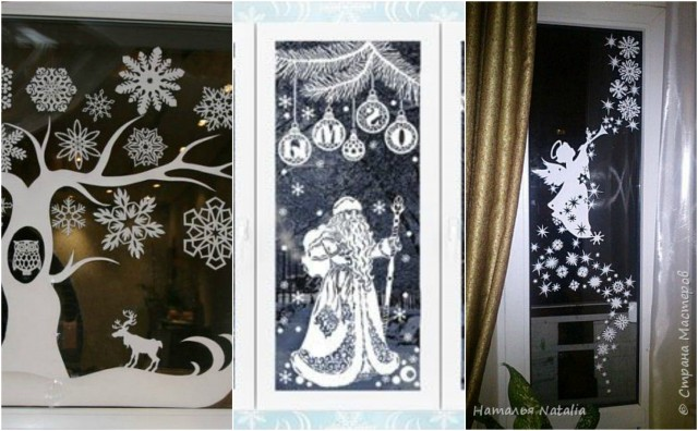 19 weihnachtsaufkleberideen am fenster. Black Bedroom Furniture Sets. Home Design Ideas