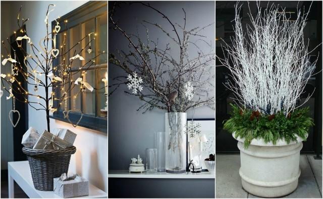 15 wunderbare winterliche dekoration mit zweigen - Winterliche dekoration ...