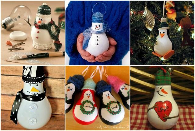 Originellen Weihnachtsschmuck Aus Alten Gluhbirnen Basteln