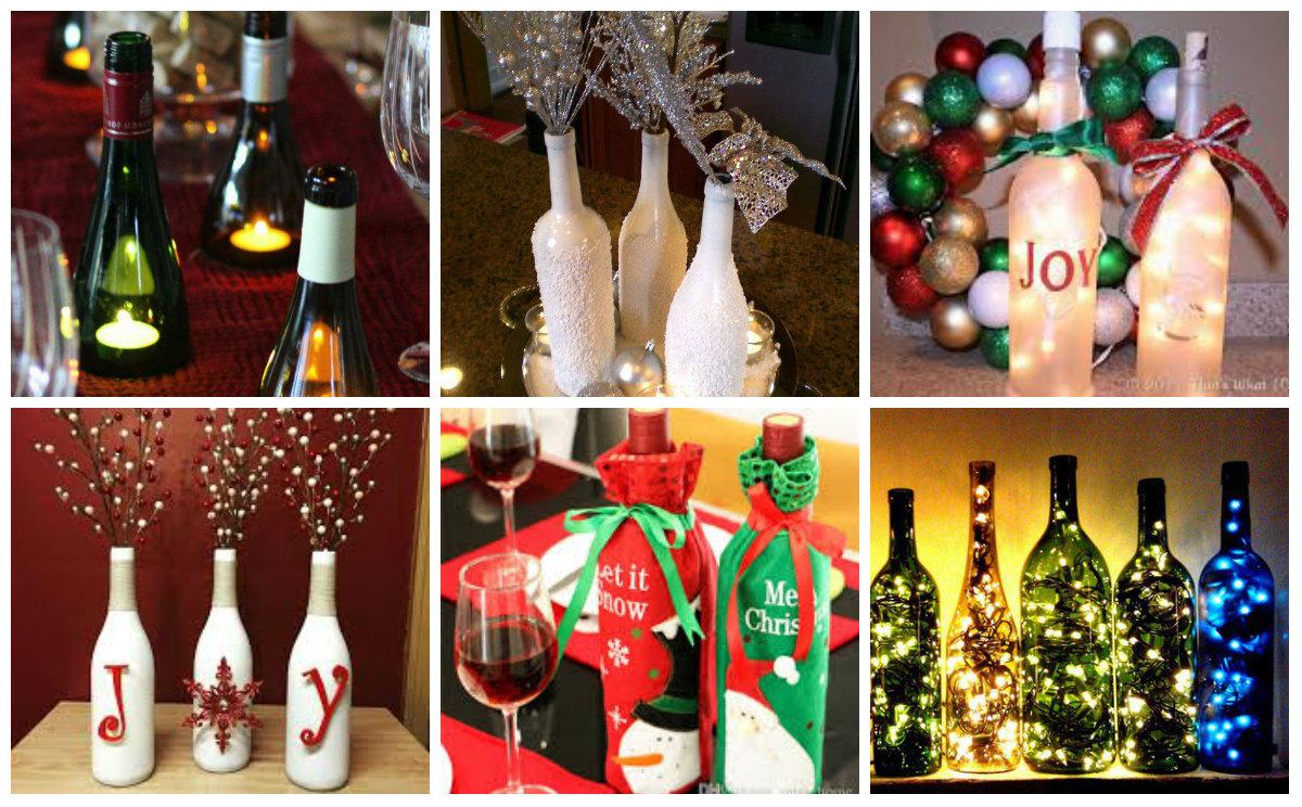 upcycling dekoration mit weinflaschen f r weihnachten. Black Bedroom Furniture Sets. Home Design Ideas