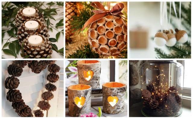 40 diy ideen f r weihnachtsdekoration aus naturmaterialien. Black Bedroom Furniture Sets. Home Design Ideas