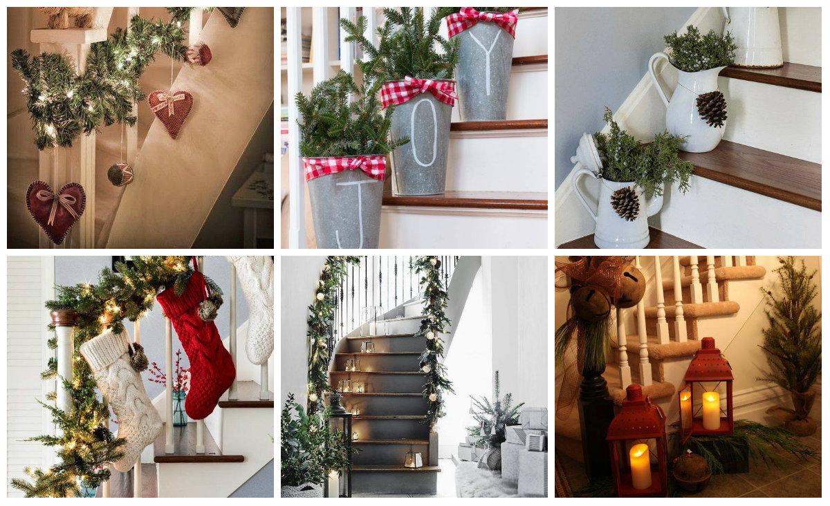 Weihnachtliche diy treppen dekoration for Dekoration wohnung diy