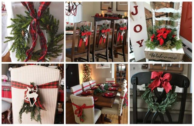 Festliche Stuhl Dekoration Für Stimmungsvolle Weihnachten