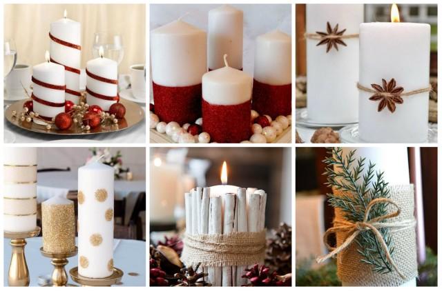 billige diy kerzen ideen zu weihnachten. Black Bedroom Furniture Sets. Home Design Ideas