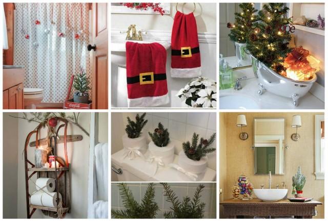 33 weihnachtliche dekorationsideen f rs badezimmer. Black Bedroom Furniture Sets. Home Design Ideas