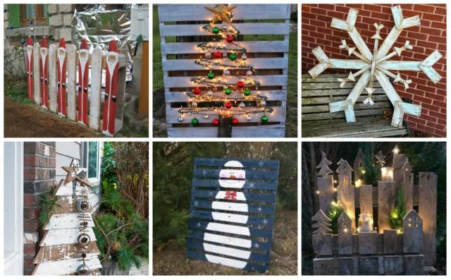Weihnachtsdekoration Aus Paletten Fur Garten Nettetipps De